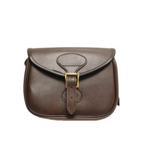 GMK Chawton Leather Cartridge Bag Brown