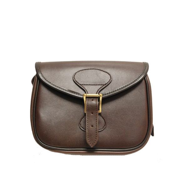 GMK Chawton Leather Cartridge Bag Brown