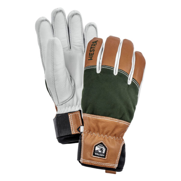 Hestra Army Leather Abisko Mens Glove Dark Green