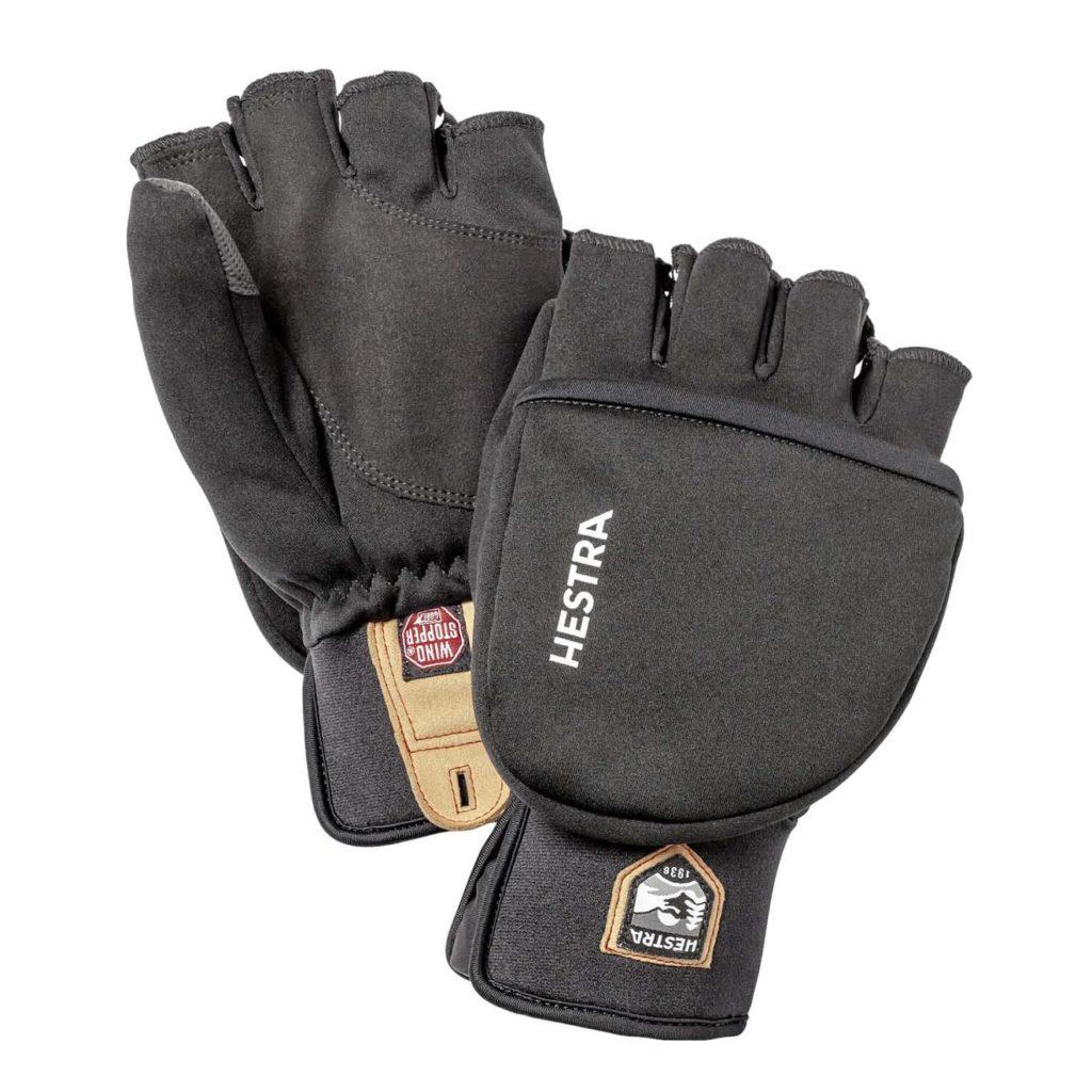 Hestra Windstopper Pullover Mitt Mens Glove Black