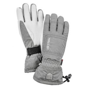 Hestra Womens Czone Powder Gloves Light Grey