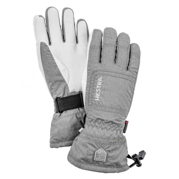 Hestra Womens Czone Powder Gloves Light Grey