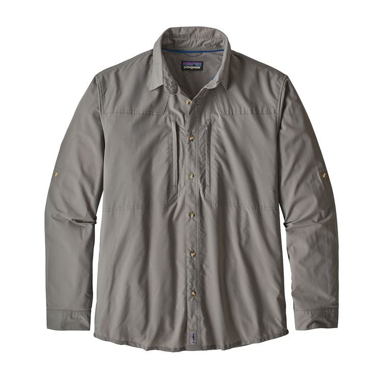 Patagonia Long Sleeve Sun Stretch Shirt Whole Weave: Feather Grey