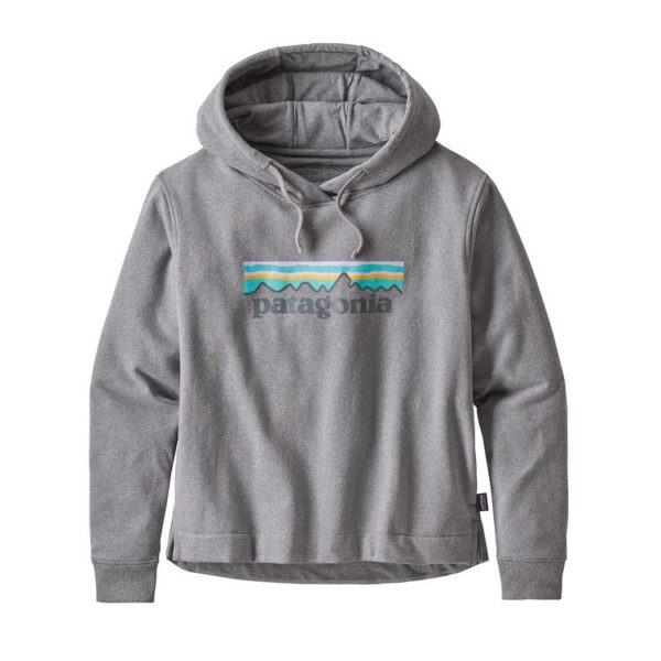 Patagonia Womens P-6 Logo Uprisal Hoody Gravel Heather