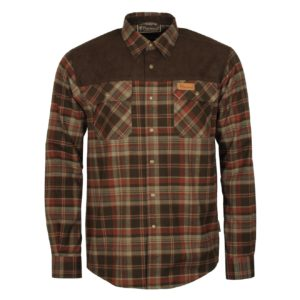 Pinewood Douglas Shirt Dark Green Brown