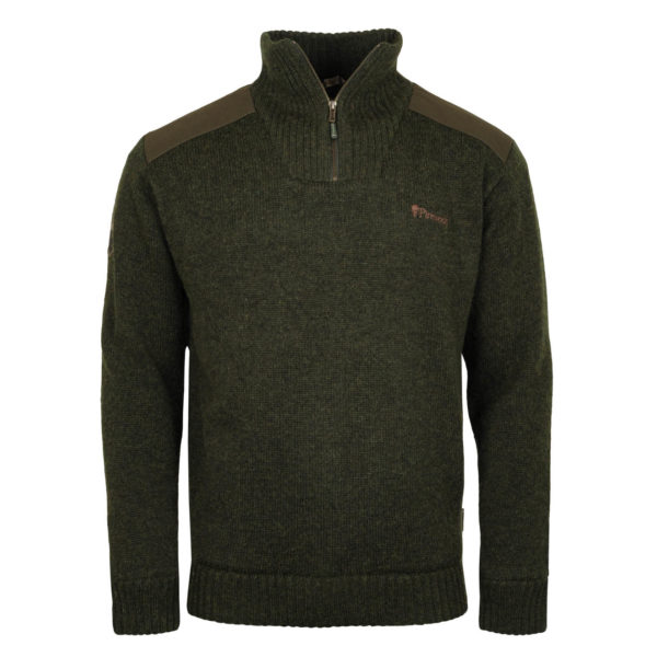 Pinewood Hurricane Half Zip Knit Dark Green