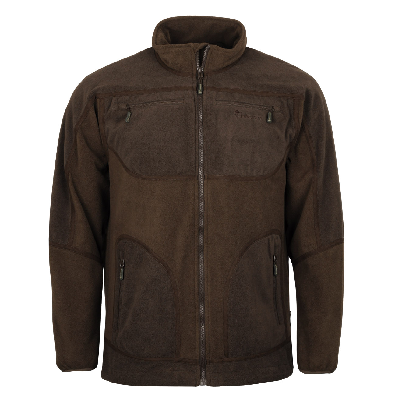 38b9056aa Pinewood Michigan Light Fleece Jacket Brown / Hunting Brown