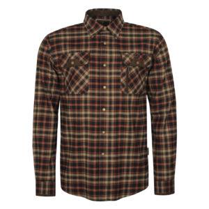 Pinewood Prestwick Check Shirt Dark Navy Dark Copper