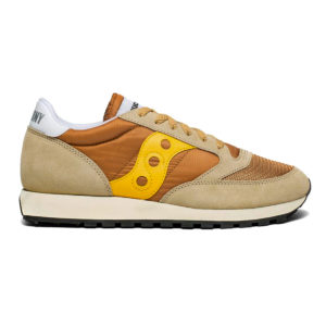 Saucony Jazz Original Vintage Trainer Tan Yellow