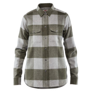 Fjallraven Womens Canada Shirt Laurel Green - Fog