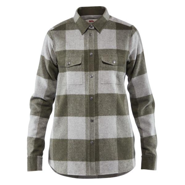 Fjallraven Womens Canada Shirt Laurel Green - Fog