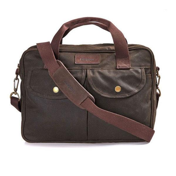 Barbour Longthorpe Laptop Bag Olive
