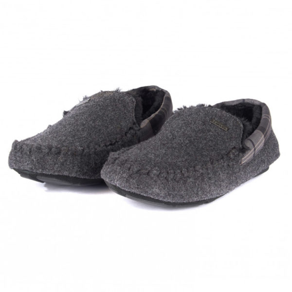 Barbour Monty Slippers Grey Felt