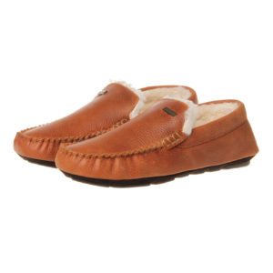 Barbour Monty Slippers Tan Leather