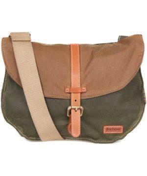 Barbour Olive Sandstone Helsby Cross Body Bag 1386