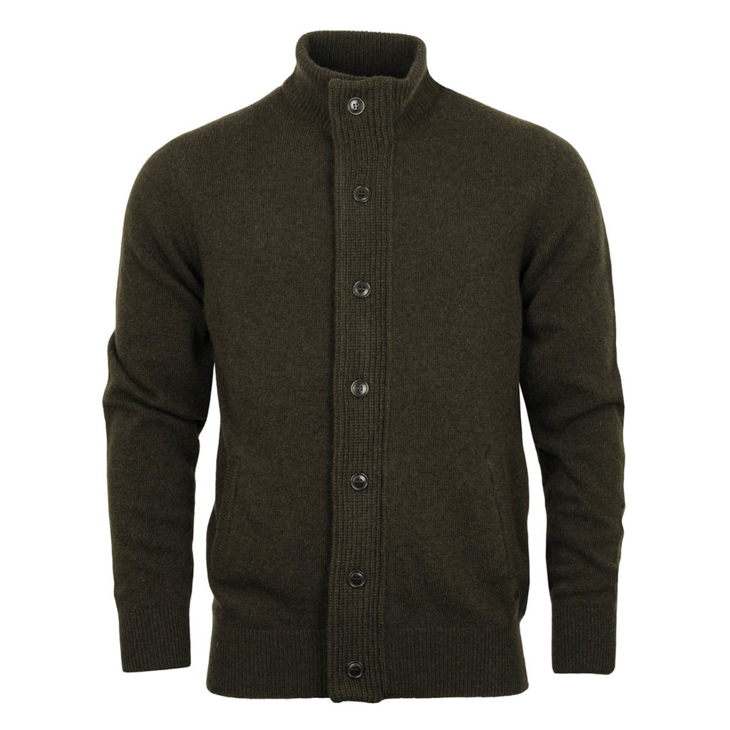 Barbour Patch Zip Thru Sweater Seaweed