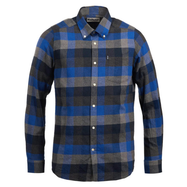 Barbour Stapleton Angus Check Shirt Atlantic Blue