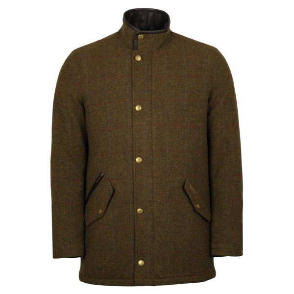Barbour Wimbrel Wool Jacket Olive Blue Red