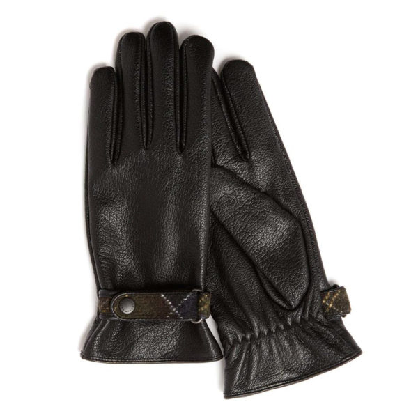 Barbour Womens Goat Skin Leather Gloves Black