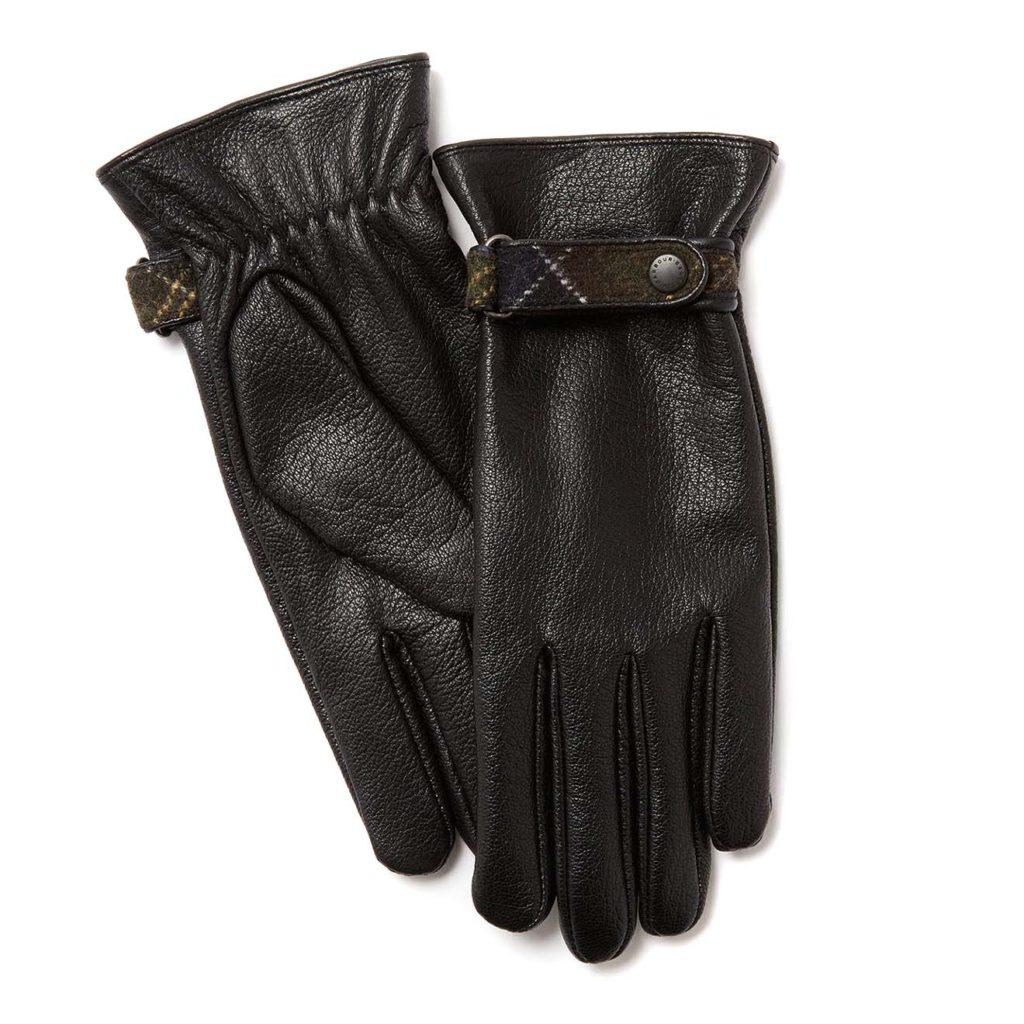 Barbour Womens Goat Skin Leather Gloves Black