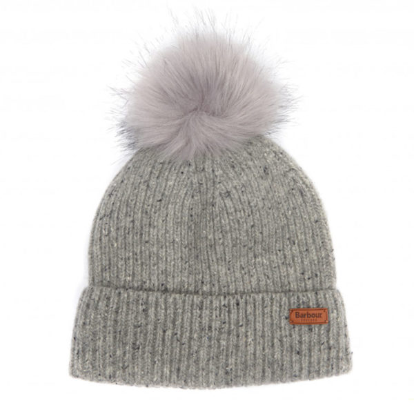 Barbour Womens Weymouth Pom Beanie Grey