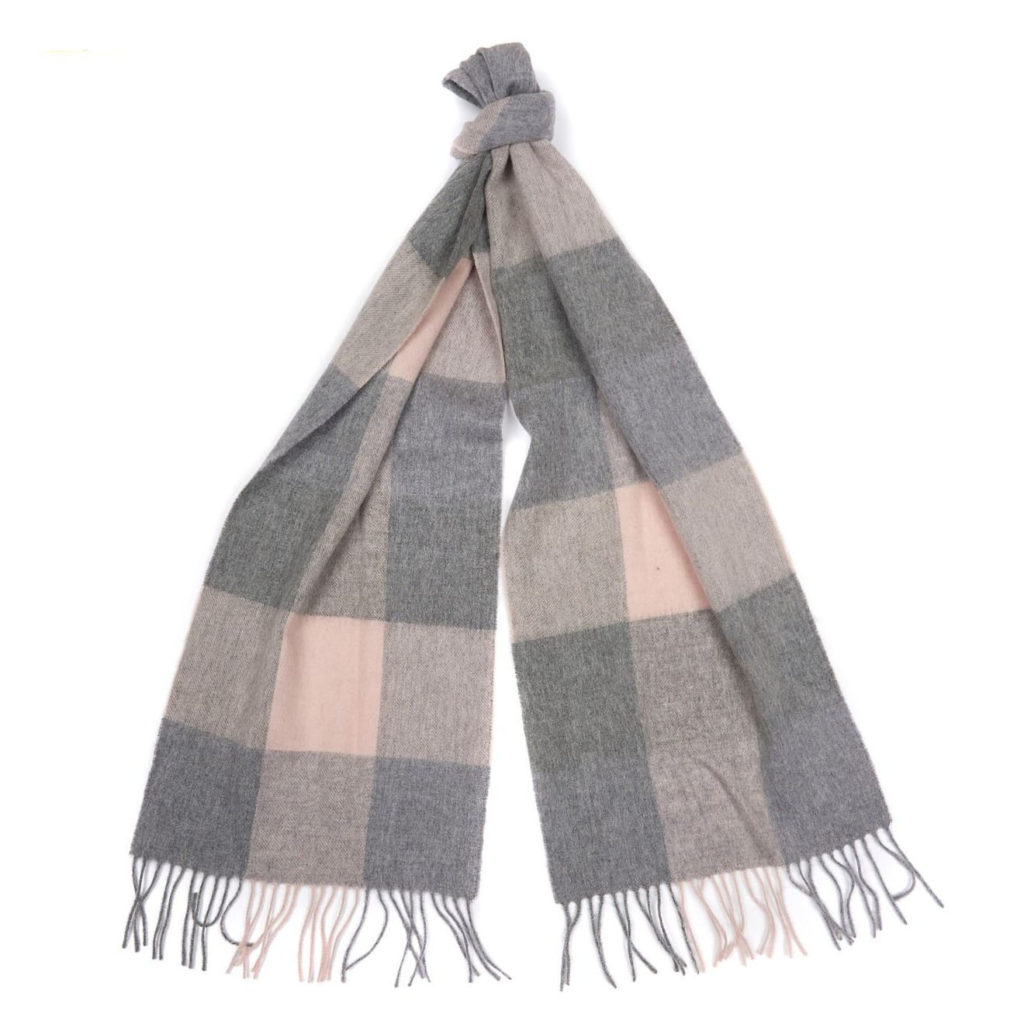 Barbour Womens Wilton Scarf Pink Grey