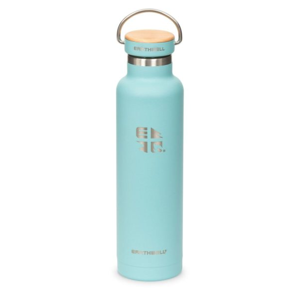 Earthwell-22oz-65cl-Woodie-Vacuum-Bottle-Maple-Aqua-Blue-