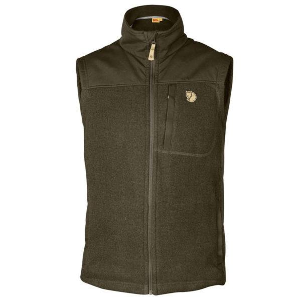 Fjallraven Buck Fleece Vest Dark Olive