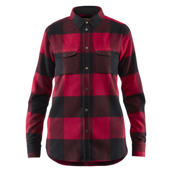 Fjallraven Womens Canada Shirt red