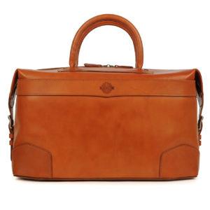 James Purdey 24HR Leather Bag London Tan