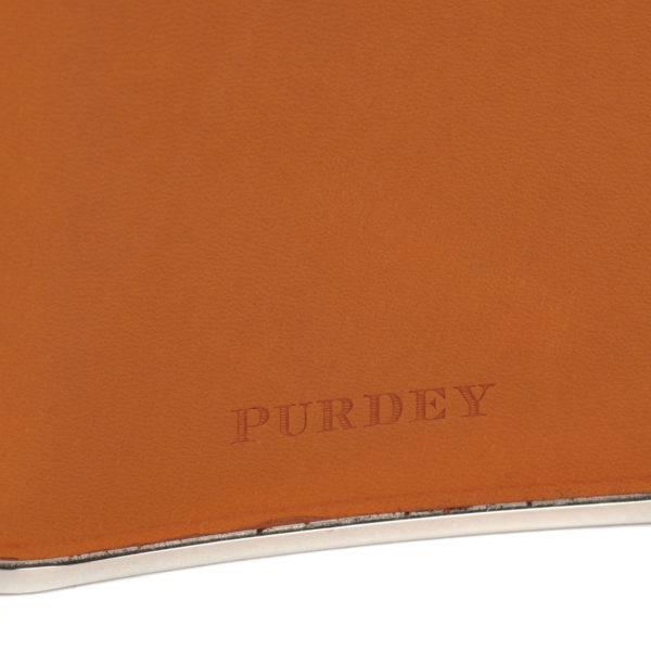 James Purdey 8oz Hand Stitched Leather Flask Tan 2