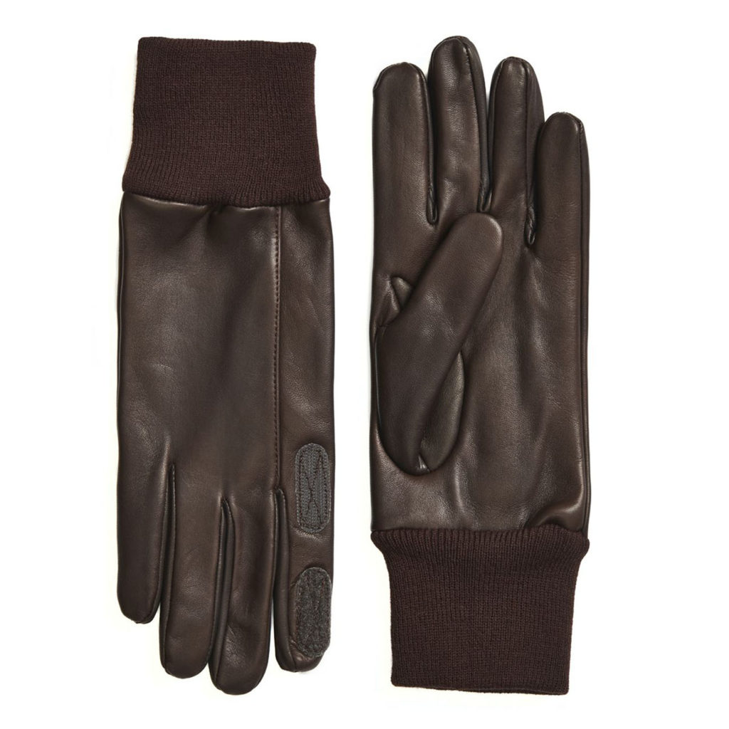 James Purdey Calf Leather Knitted Cuff Shooting Gloves Brown