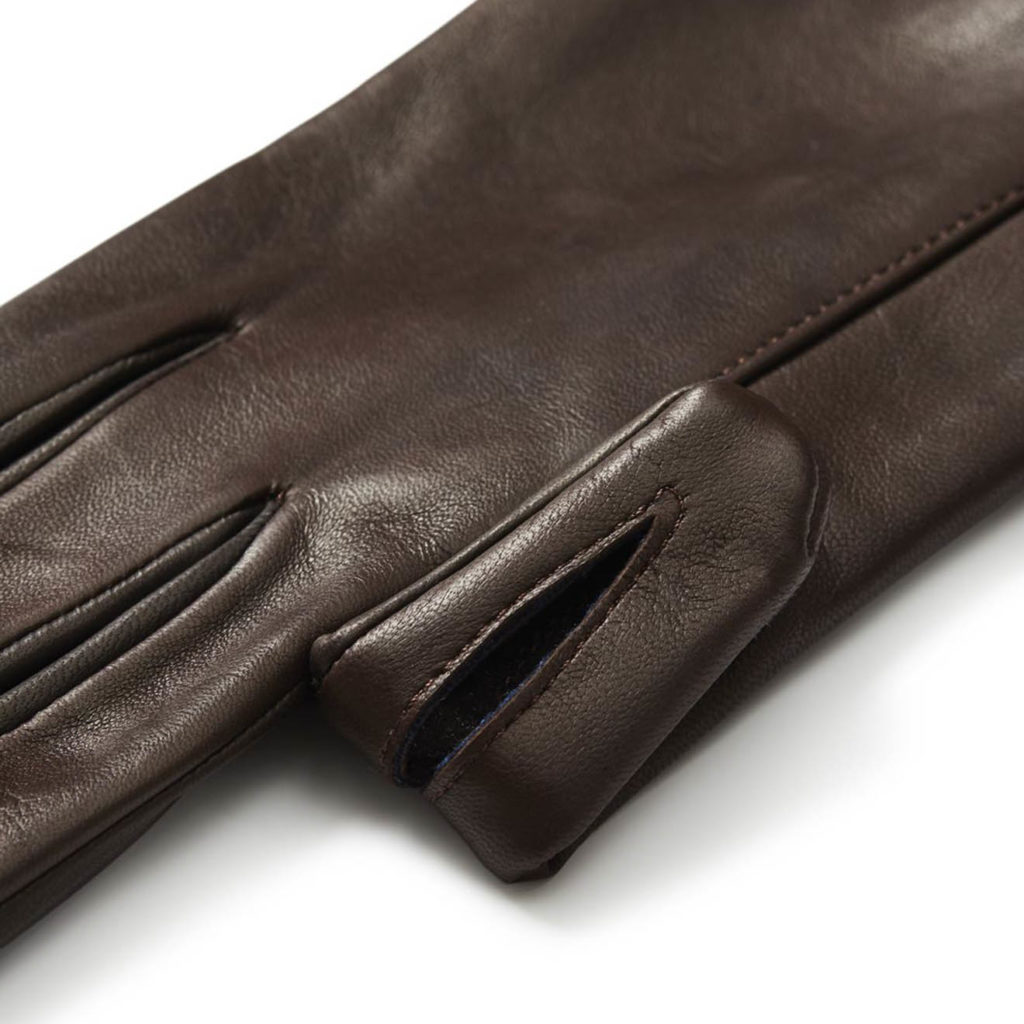 James Purdey Calf Leather Knitted Cuff Shooting Gloves Brown 2
