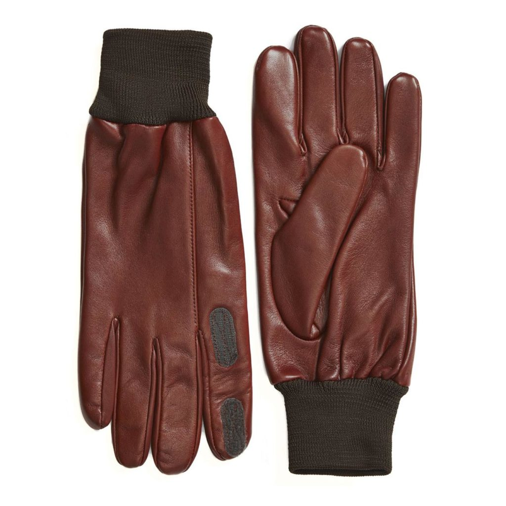 James Purdey Calf Leather Knitted Cuff Shooting Gloves Tan