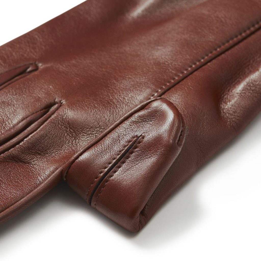 James Purdey Calf Leather Knitted Cuff Shooting Gloves Tan 2