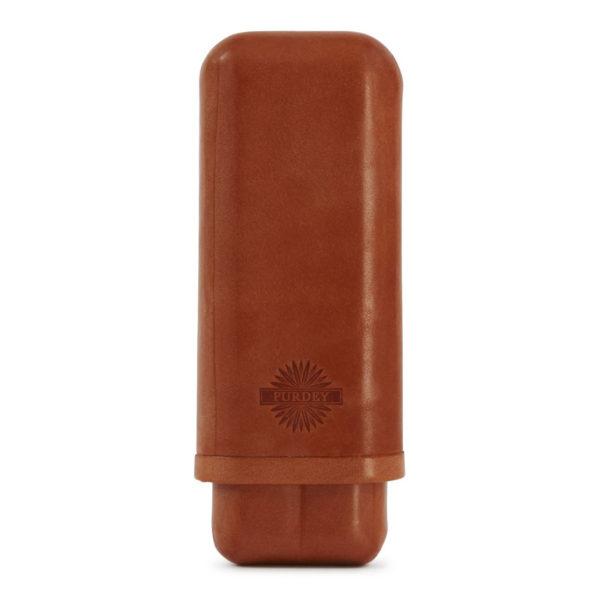 James Purdey Cigar Holder Oak Bark Leather Tan