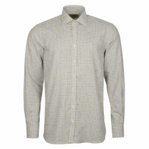James Purdey Close Tattersall Shirt Khaki Green