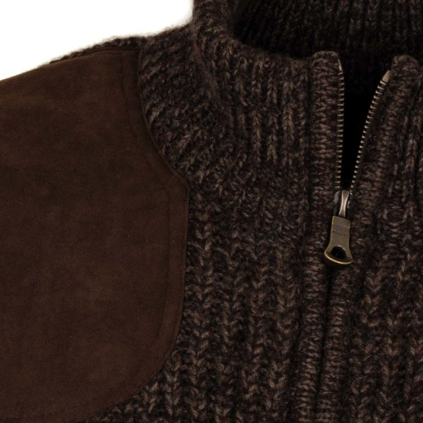 James Purdey Knitted Shooting Jacket Walnut 4