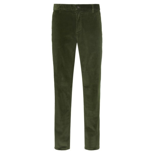 James Purdey Needlecord Trousers Loden Green