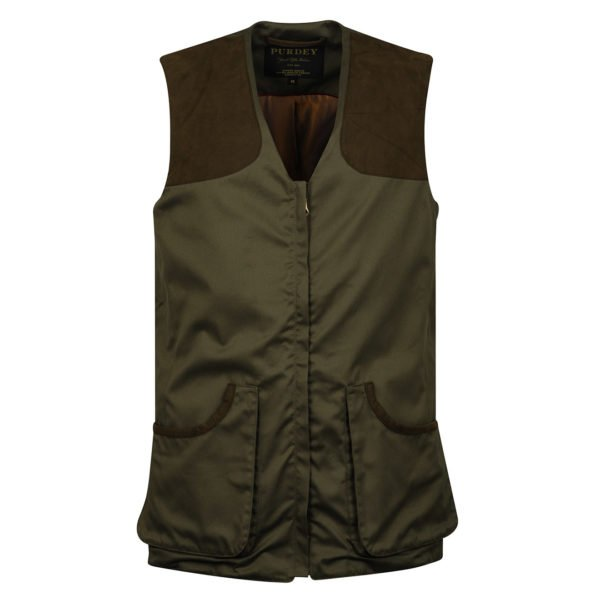 James Purdey Quail Shooting Vest Khaki Green 2