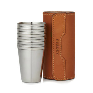 James Purdey Tan Leather Cup Set 10 Numbered