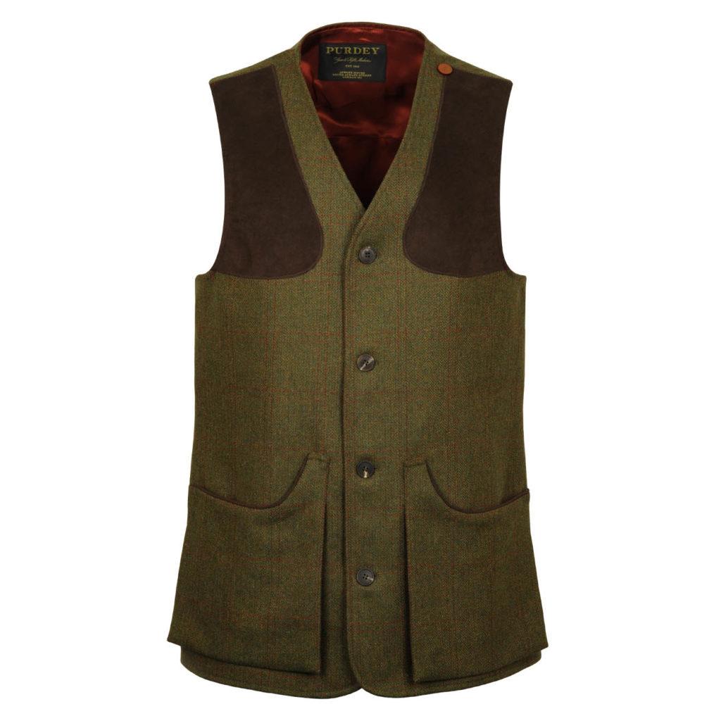 James Purdey Tweed Shooting Vest Lomond Tweed