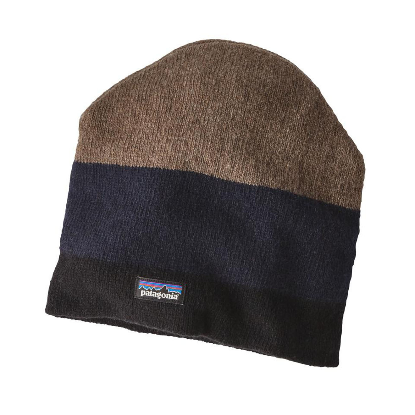 Patagonia Backslide Beanie Hat Black Sediment Stripe - The Sporting Lodge a98760e2bac