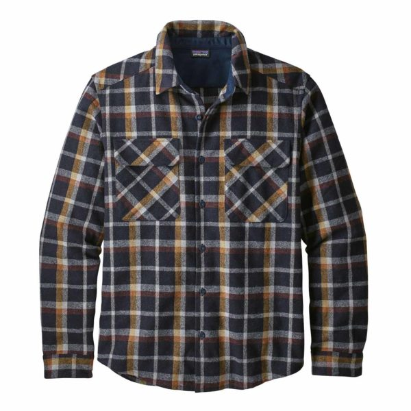 Patagonia Long Sleeve Recycled Wool Shirt Rebel Plaid