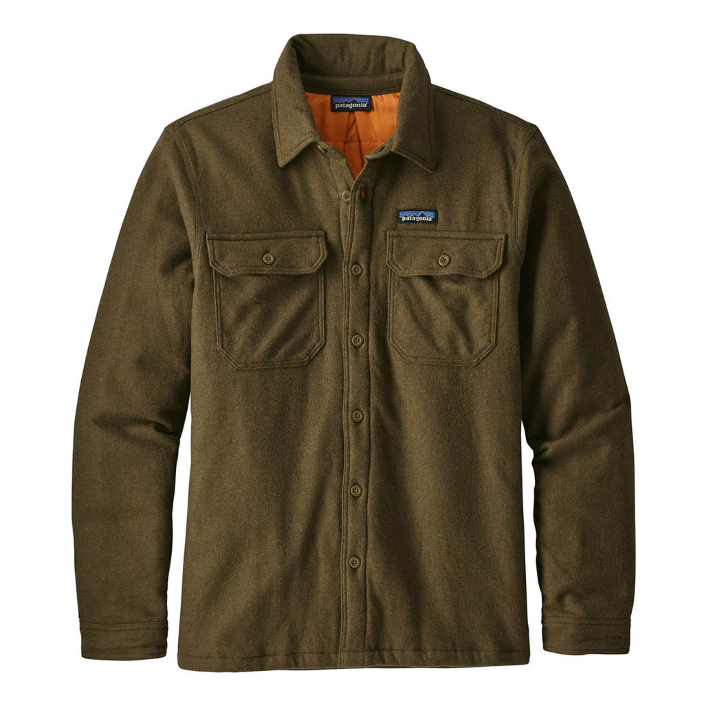 Patagonia Mens Insulated Fjord Flannel Jacket Sediment