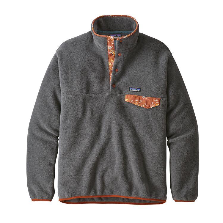 8eb49ae4b722c Patagonia Mens Lightweight Synchilla Snap Pullover Fleece Forge Grey