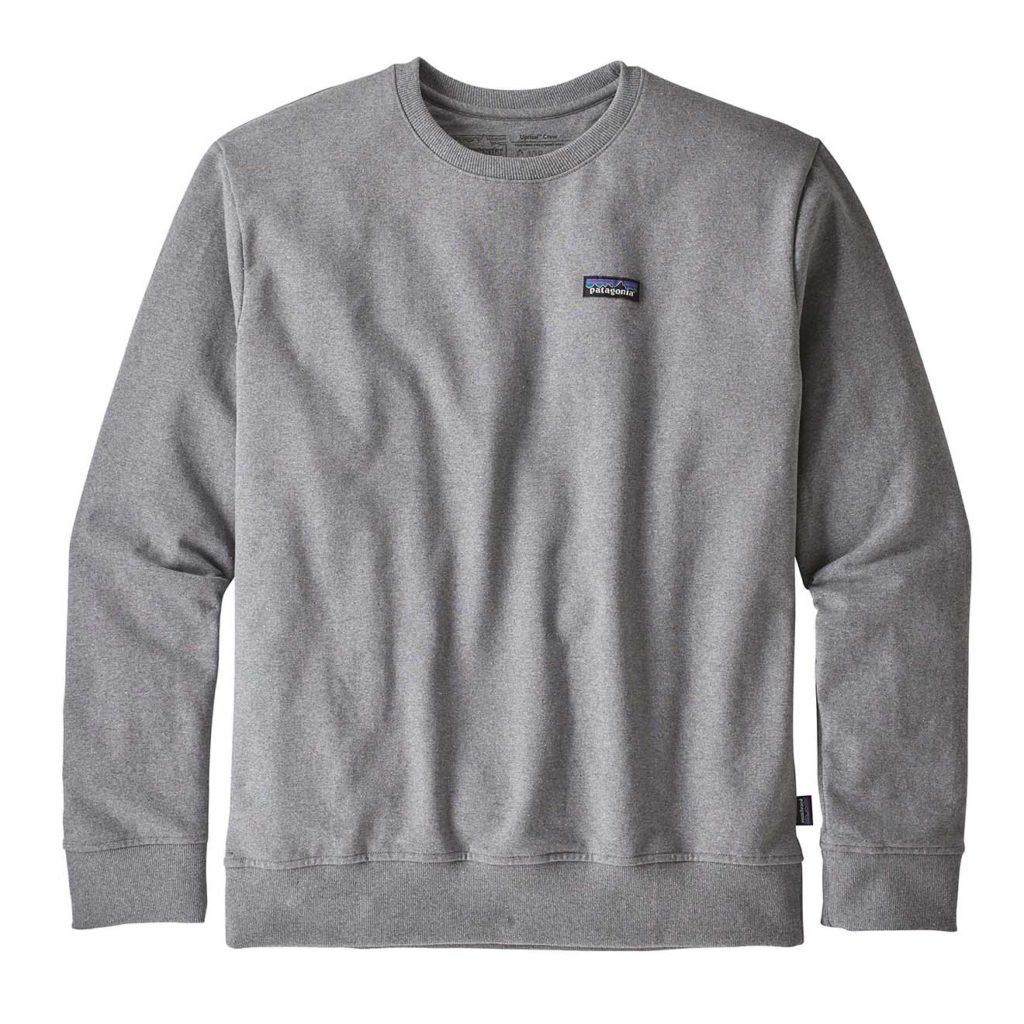 Patagonia P-6 Label Uprisal Crew Sweatshirt Gravel Heather