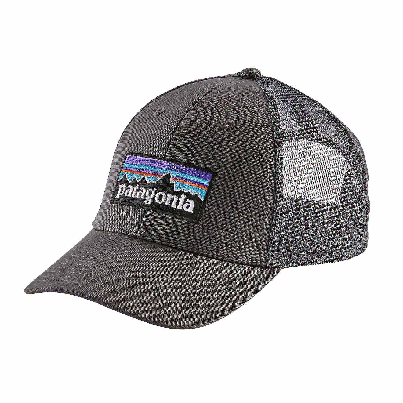 e3a00af5474 Details about Patagonia P-6 Logo LoPro Trucker Hat Forge Grey - SPRING SALE