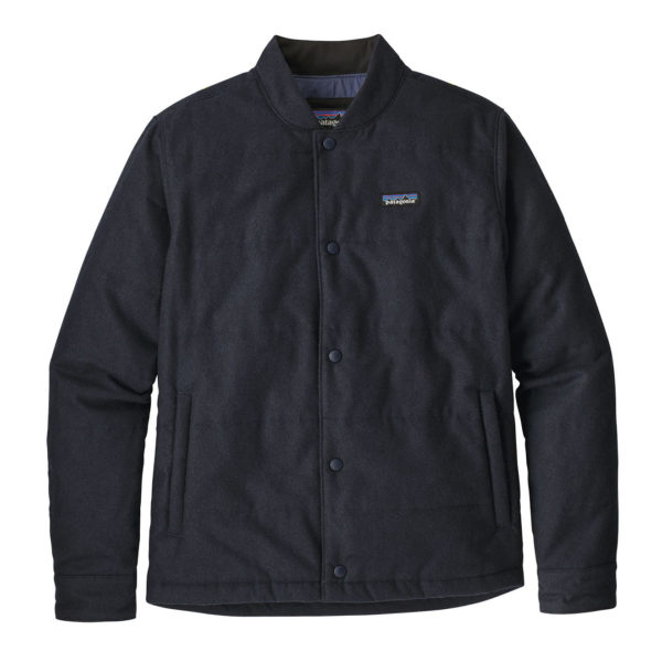 Patagonia Recycled Wool Bomber Jacket Classic Navy