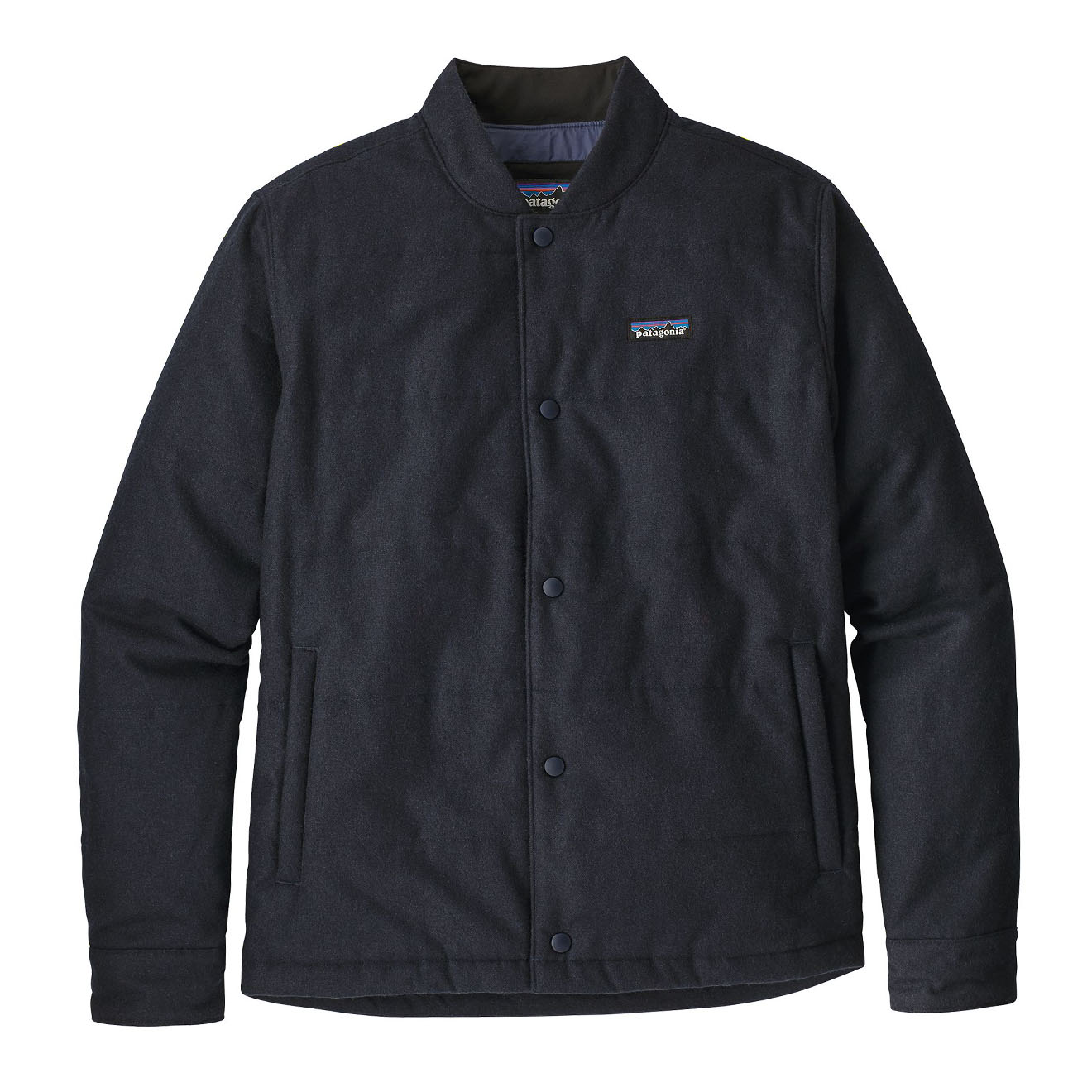 0699f57fc Patagonia Recycled Wool Bomber Jacket Classic Navy